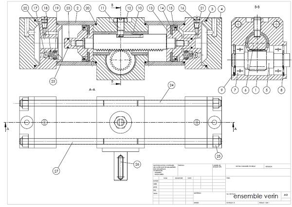 Cours vid o de dessin industriel dessin technique tests jeux ducatifs en ligne - Exercice dessin industriel coupe et section ...