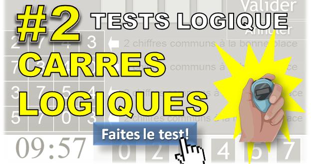 #2 Test des carrés logiques. Test glisser/déposer