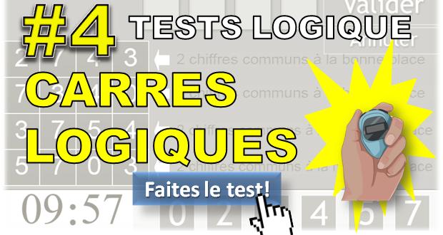 #4 Test des carrés logiques. Test glisser/déposer