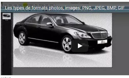 Les types de formats photos, images: PNG, JPEG, BMP, GIF