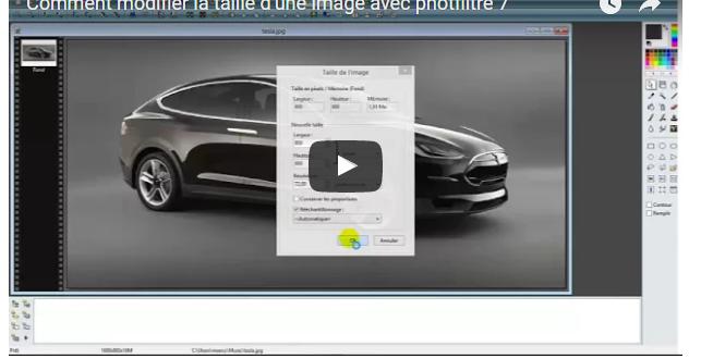 Comment modifier la taille d'une image avec photfiltre 7