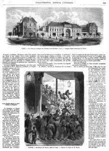 Les nouveaux bâtiments de l'hospice Sainte-Eugénie, à Lille. — Egypte : ouverture des Ecoles libres du Caire.1874