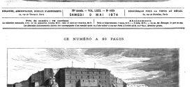 L'illustration journal universel n° 1628. Le lion de Belfort : projet de monument commémoratif de la défense de Belfort pondant la guerre. (gravure 1874)