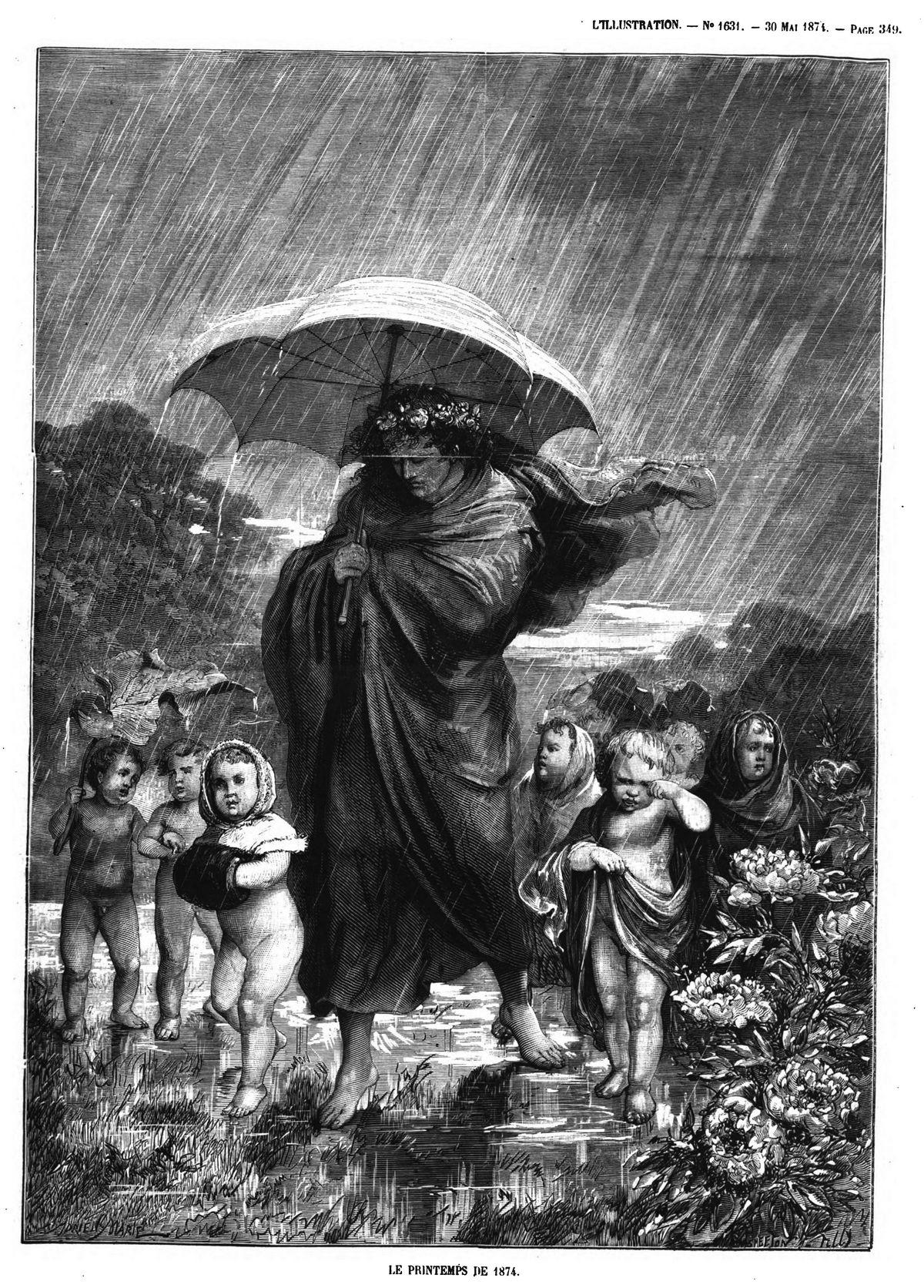 Le printemps de 1871. (gravure 1874)