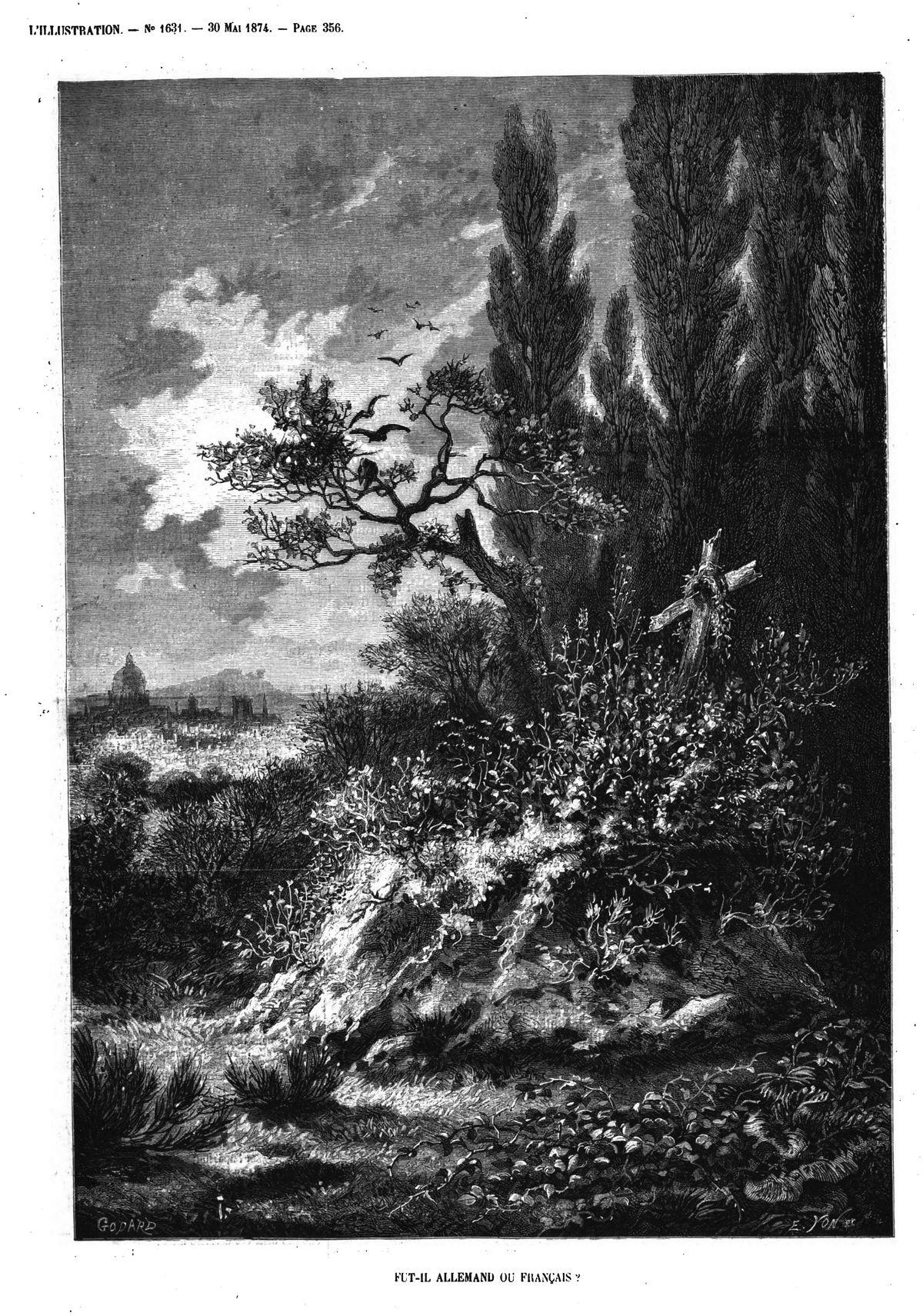 Fut-il Allemand ou Français? (gravure 1874)