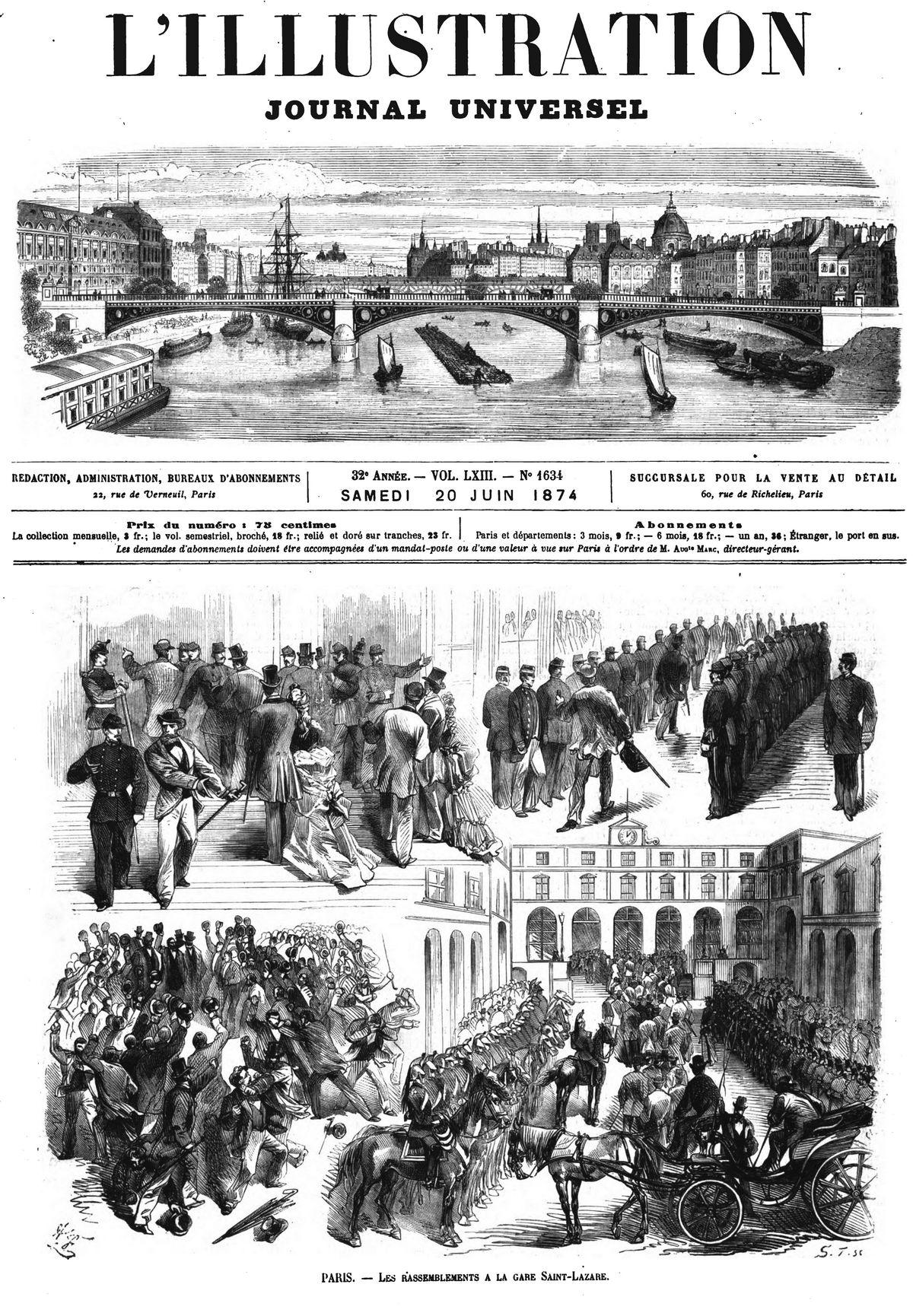 Paris : les rassemblements à la gare Saint-Lazare.