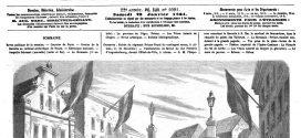 L'illustration journal universel n° 1091.  Manifestation en faveur du duc Frédéric d'Augustenbourg, devant l'Hôtel-de-Ville, à Altona