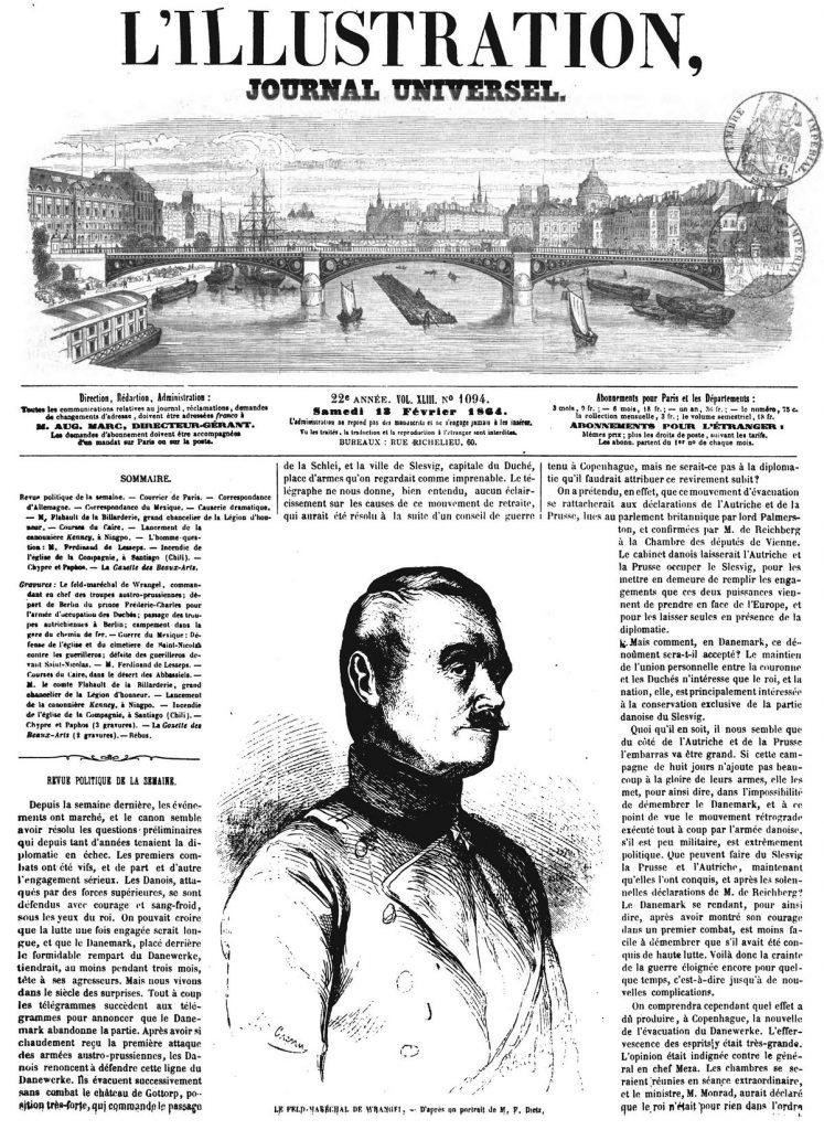 Le feld-maréchal de Wrangel, commandant en chef des troupes austro-prussiennes
