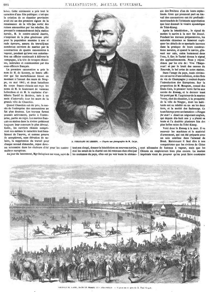 M. Ferdinand de Lesseps. — Courses du Caire, dans le désert des Abbassiels