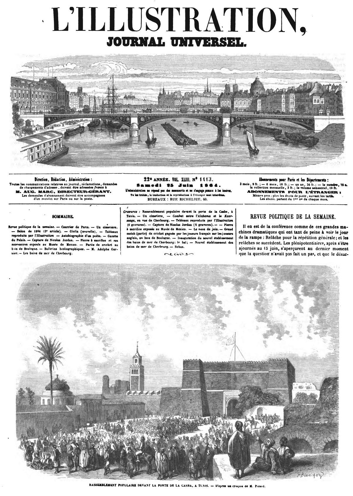 L 39 illustration journal universel n 1113 rassemblement for Porte logique pneumatique