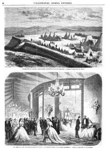 Insurrection de l'Algérie : Redoute-Rose, construite à Daar-Sidi-Abdallah. — Bal donné le 8 juin au Palais de Ras-el-Tin, par S. A. le vice-roi d'Égypte.