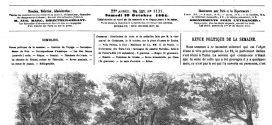 L'illustration journal universel n° 1131. 29 octobre 1864 – Evénements des Etats-Unis : Campagne du général Sheridan, bataille de Fisher's-Hill (23 septembre), 2 gravures.