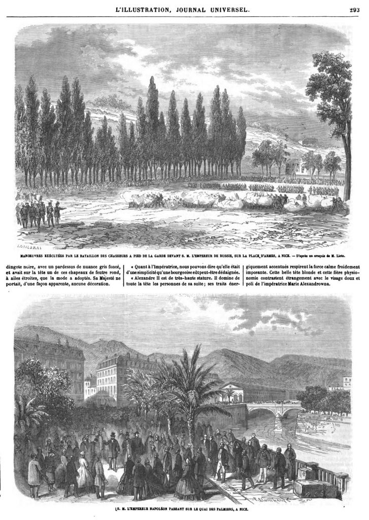 Voyage en France de Leurs Majestés l'Empereur et l'Impératrice de Russie (5 gravures).