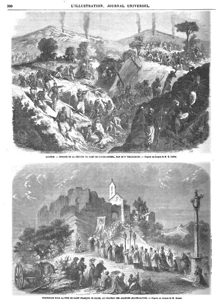 Procession pour la fête de Saint-François de Sales, au château des Allinges (Haute-Savoie).