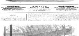 L'illustration journal universel n° 1416. Palais de l'Industrie : Revue de l'escadron des Cent-gardes, passée par l'Empereur. Gravure de 1870