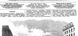 L'illustration journal universel n° 1424. Marseille : Transport d'une baleine capturée dans les eaux du château d'If. Dessin, gravure 1870