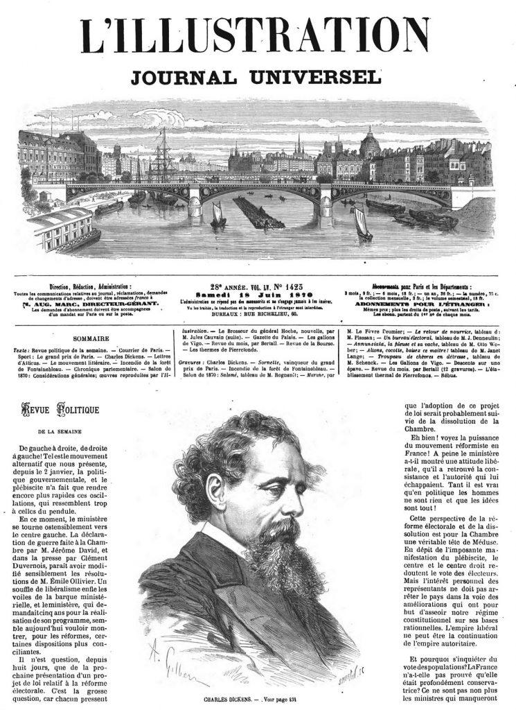 Charles Dickens. portrait 1870