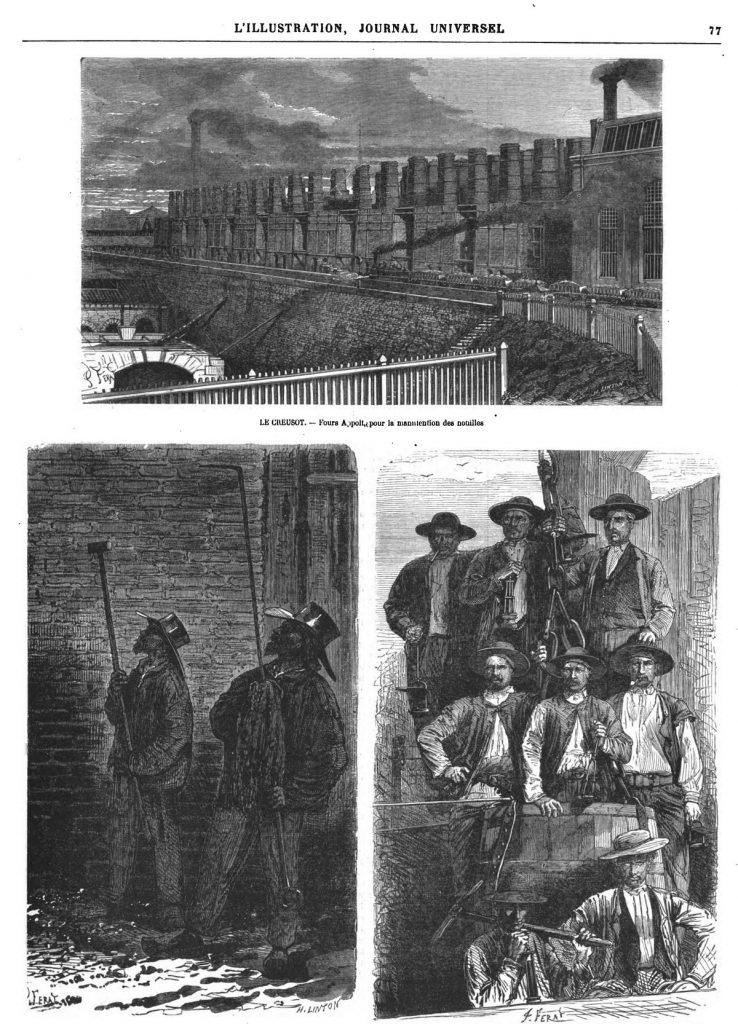 Ouvriers des Fours Appolt.- Ouvriers mineurs. - Gravures extraites des Grandes Usines, par M. Turgan