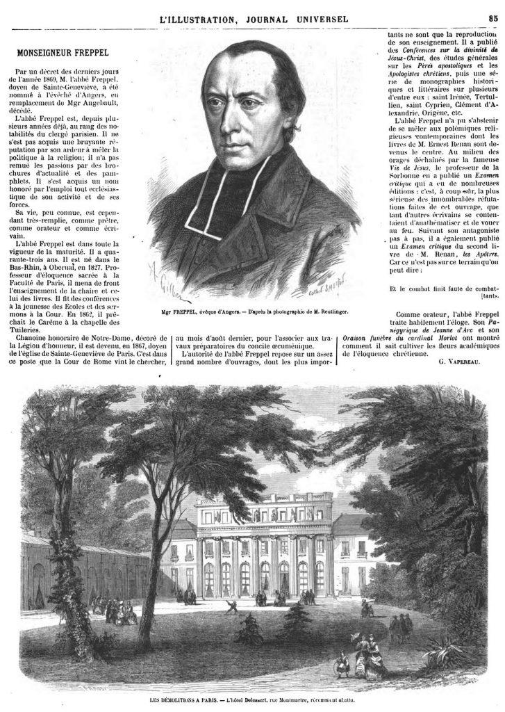 Mgr FREPPEL, évêque d'Angers. -