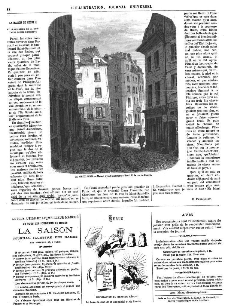 LES DÉMOLITIONS A PARIS. — L'hôtel Delessert, rue Montmartre