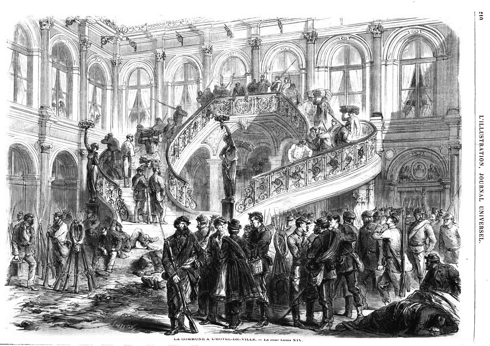 L illustration journal universel n 1468 la guerre civile for Porte logique pneumatique