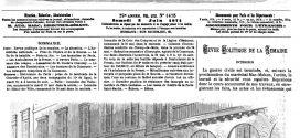 L'illustration journal universel n° 1475. Incendie de l'Hôtel-de-Ville de Paris 1871