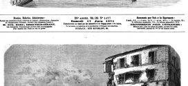 L'illustration journal universel n° 1477.  Les ruines de Paris: effondrement du tunnel de la Porte Maillot, sur le chemin de fer de Ceinture.1871