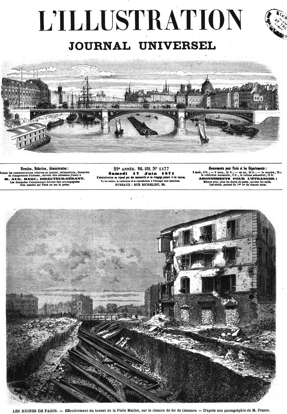 L illustration journal universel n 1477 les ruines de for Porte logique pneumatique
