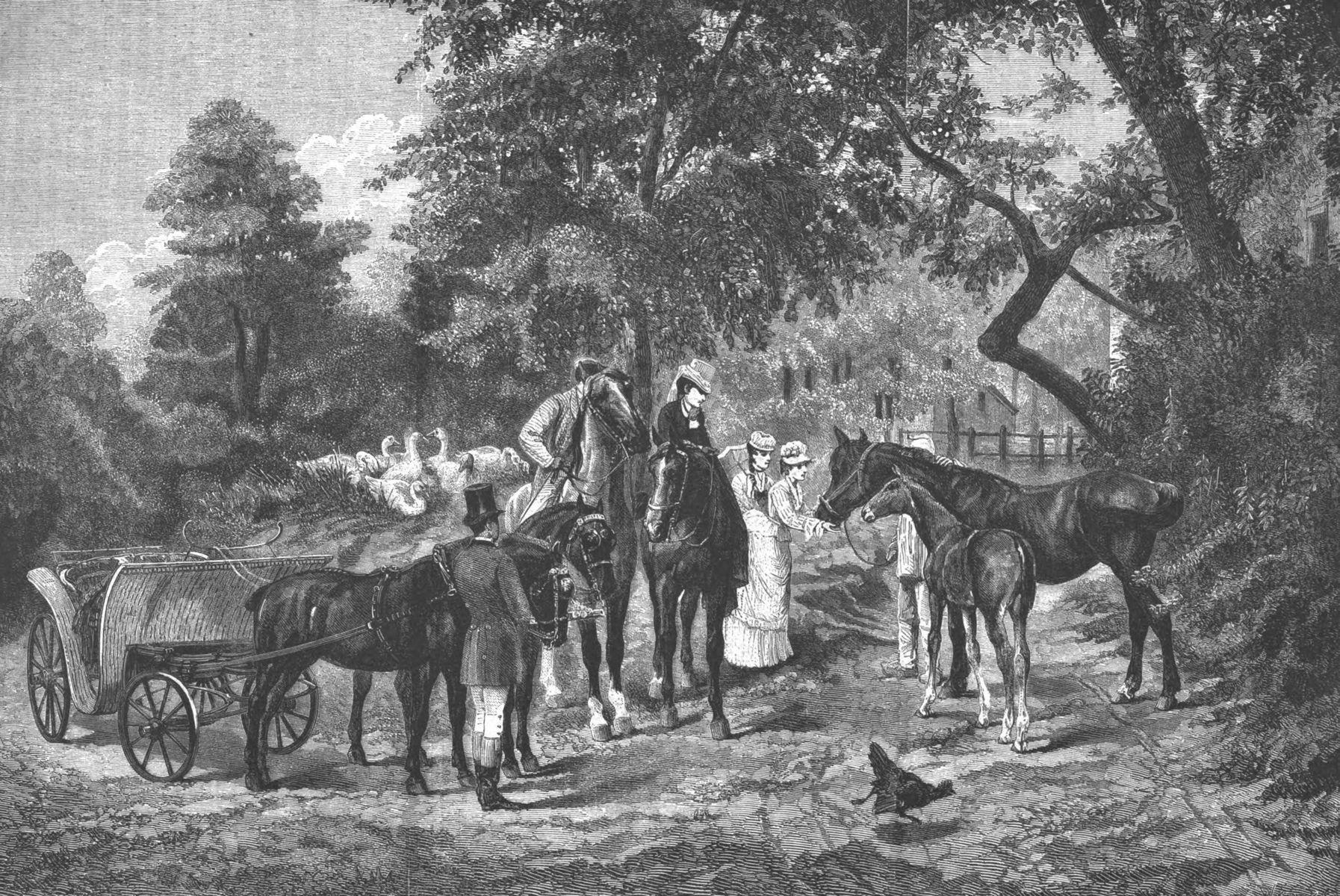 Nous aimons tant ces bêtes-la ! tableau de M. Goubie (Salon de 1871).