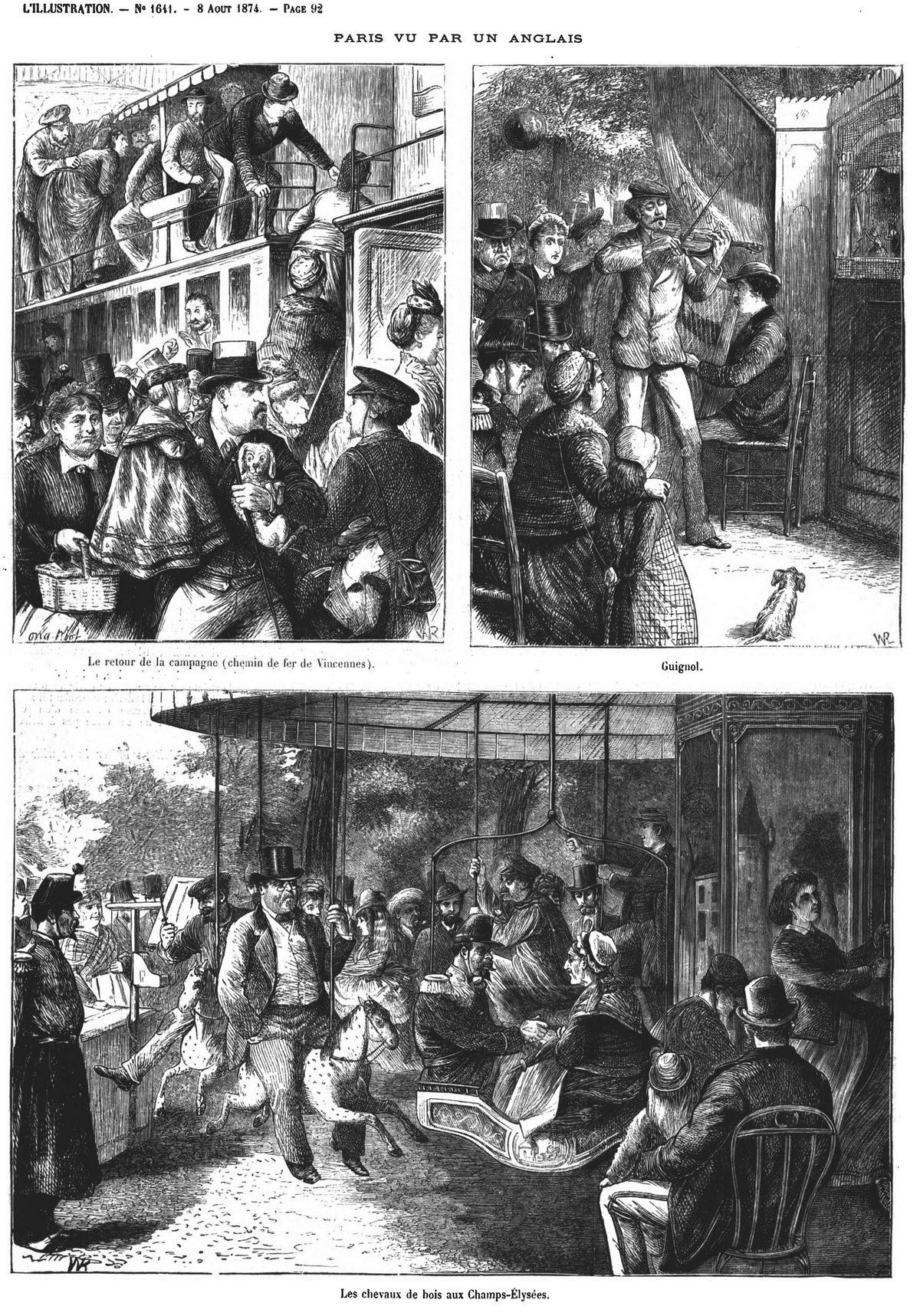 Paris vu par un Anglais, Londres vu par un Français (14 sujets). 1874