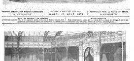 L'illustration journal universel n° 1642. Inauguration, par le maréchal de Mac-Mahon, de l'Exposition des Beaux-Arts appliqués à l'industrie. 1874