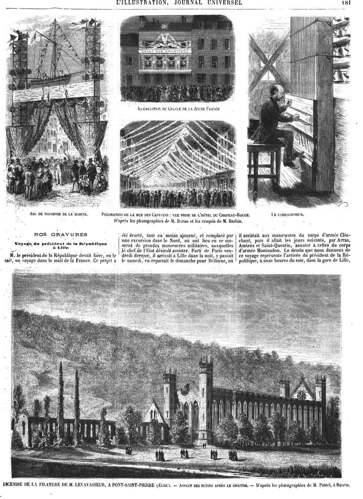 Les fêtes de Dunkerque (7 gravures).Gravure 1874