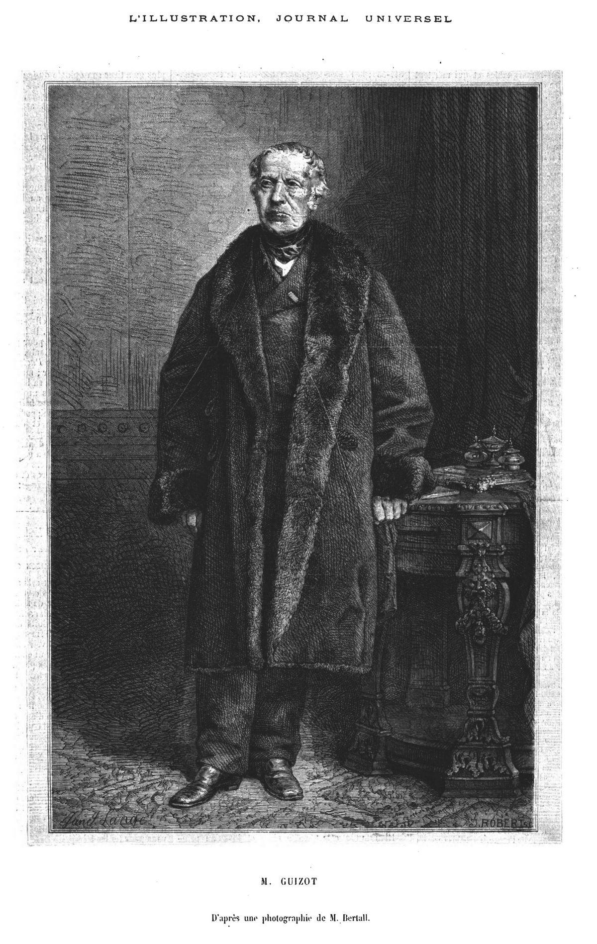M. Guizot. Gravure 1874