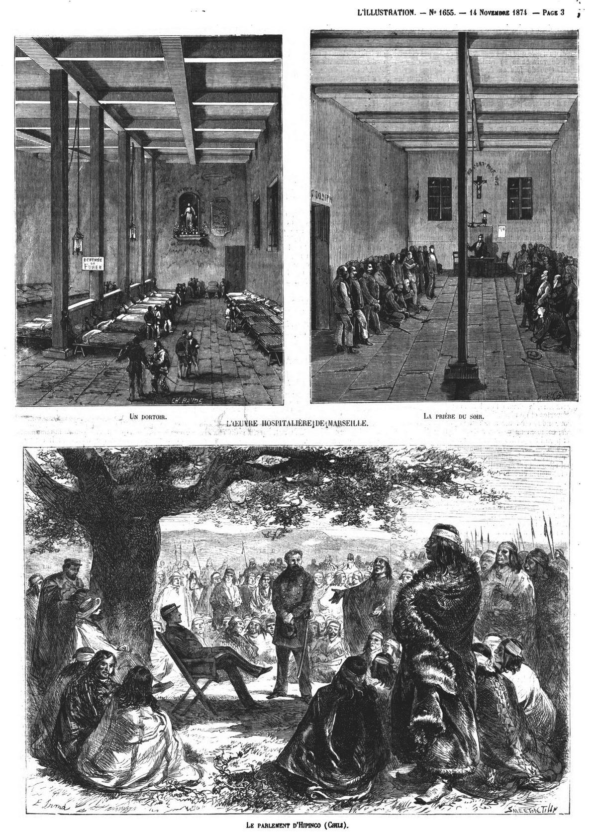 L'œuvre hospitalière de Marseille (2 gravures) Gravures 1874