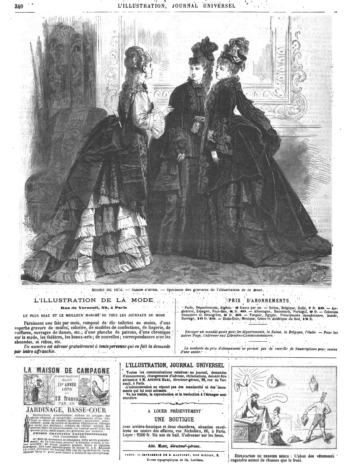 Mode hiver 1874