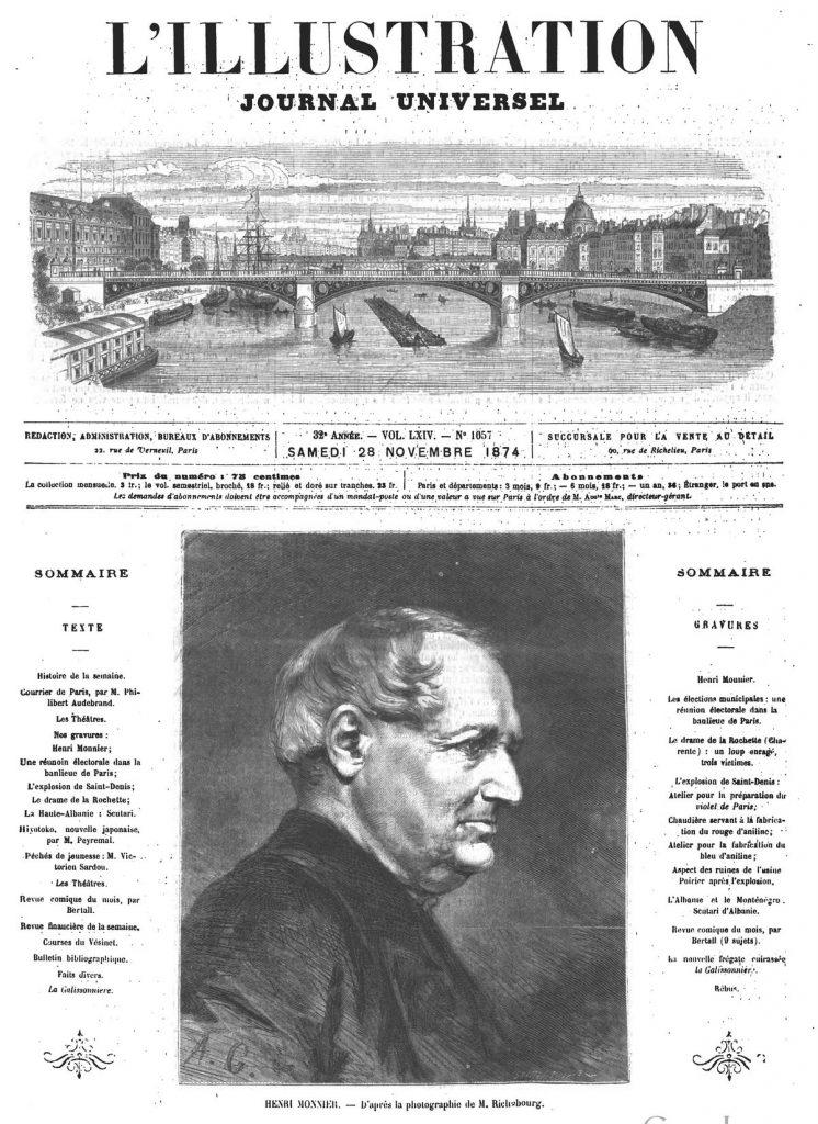 Henri Monnier.. Gravure 1874