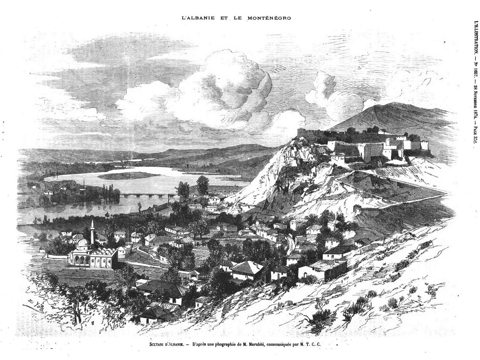 L'Albanie et le Monténégro . Sculari d'Albanie