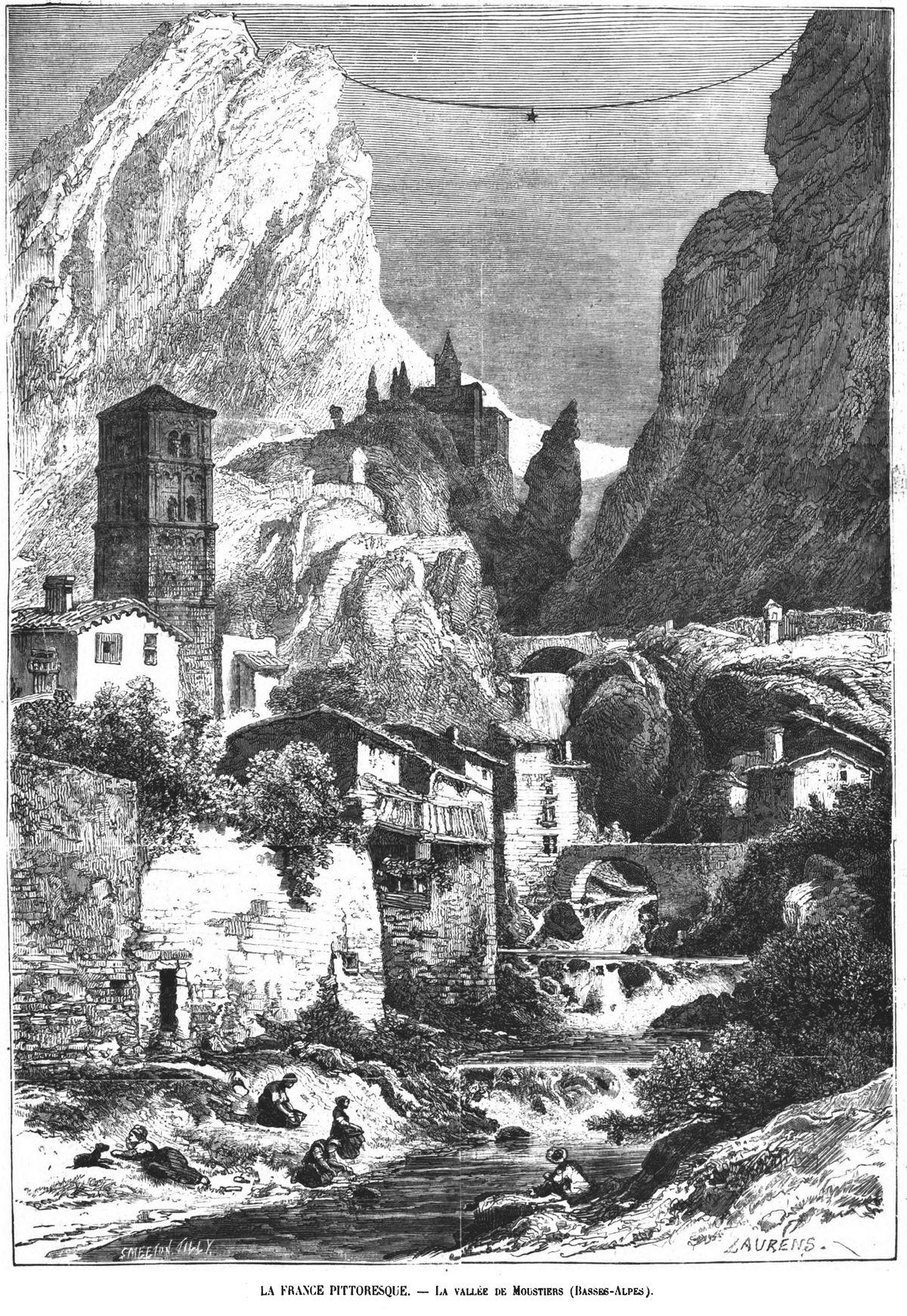 La France pittoresque : la vallée de Moustiers (Basses-Alpes).