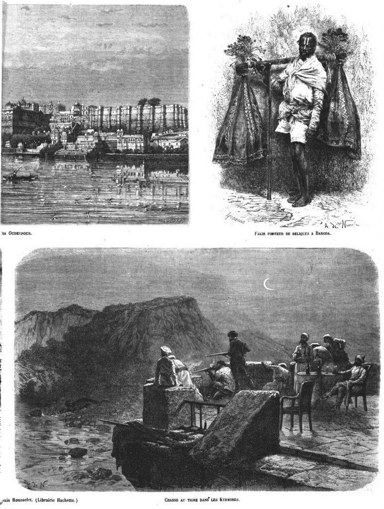 L'Inde des Rajahs (5 gravures).