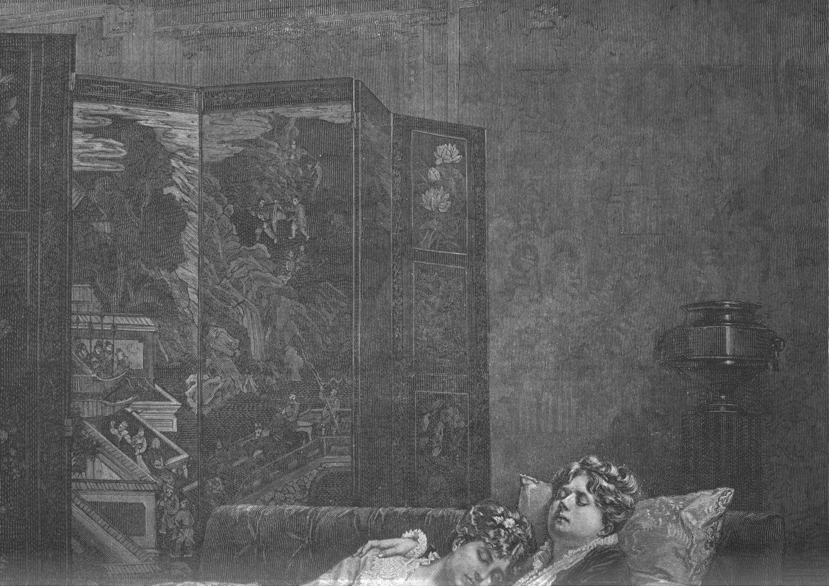 Le livre sérieux, tableau de M. A. Toulmouche.