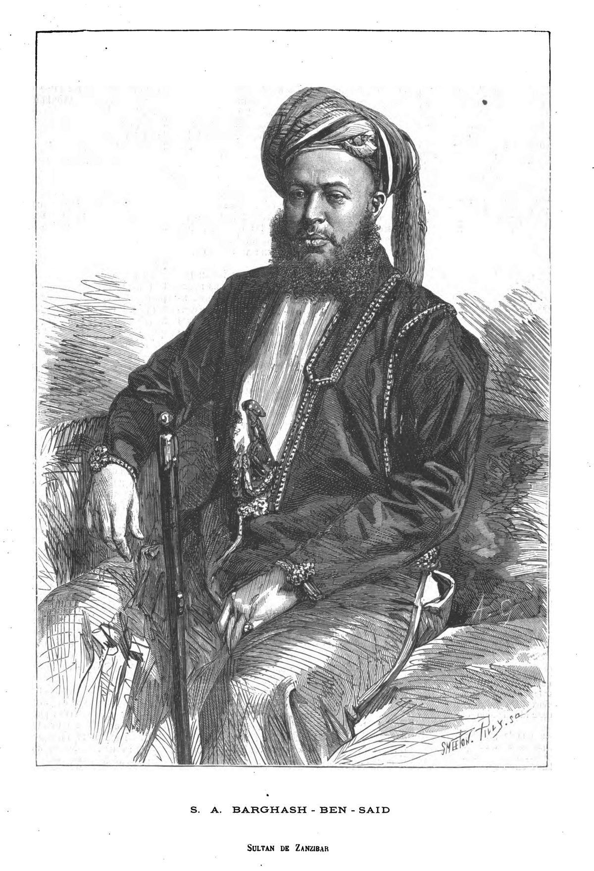 S. A. Barghash-ben-Saïd, sultan de Zanzibar. 1875