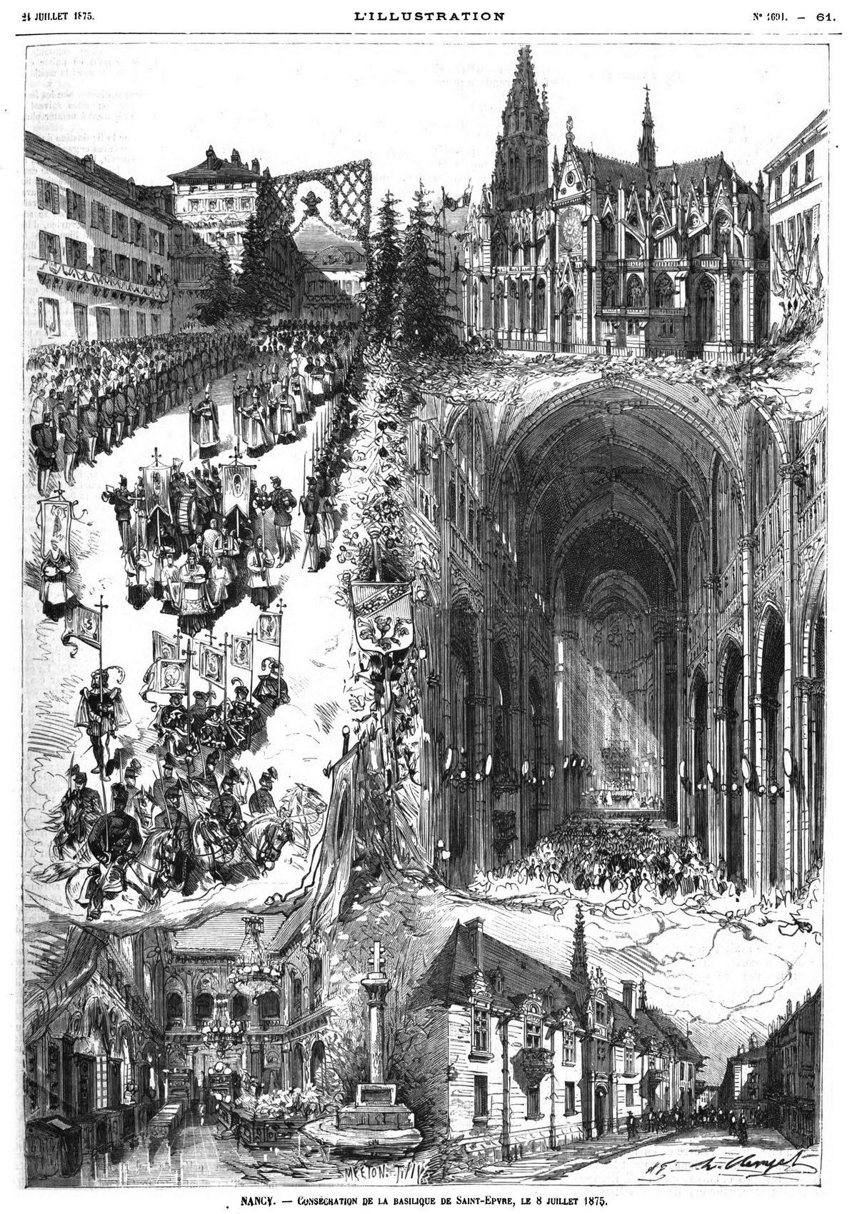 Nancy : consécration de la basilique de Saint-Epyre, le 8 juillet 1875.