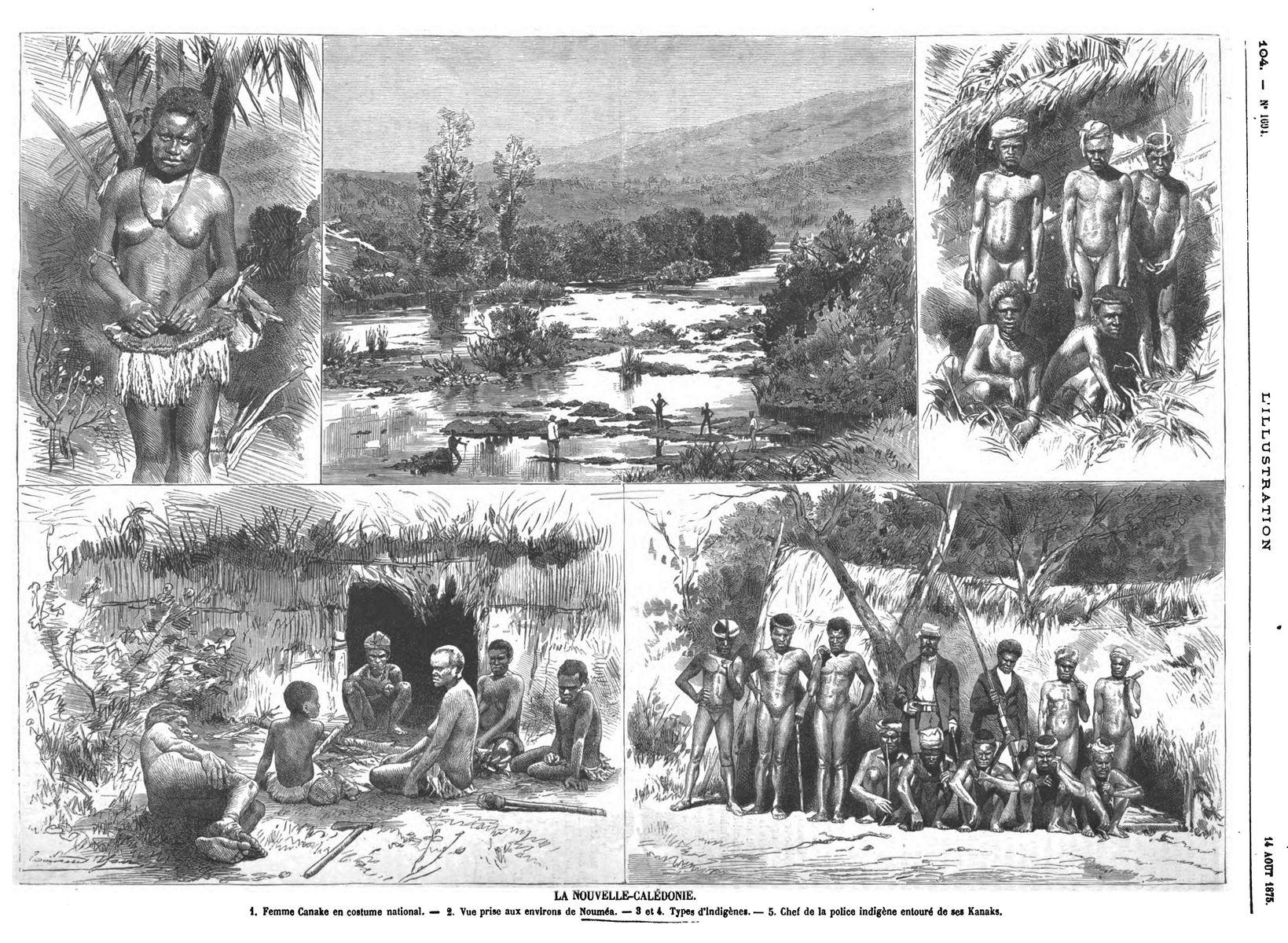 La nouvelle-Calédonie (2 gravures)