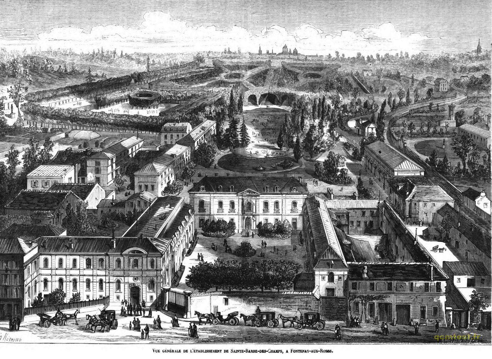 Vue générale de l'établissement de Sainte-Barbe-des-Champs, à Fontenay-aux-Roses.