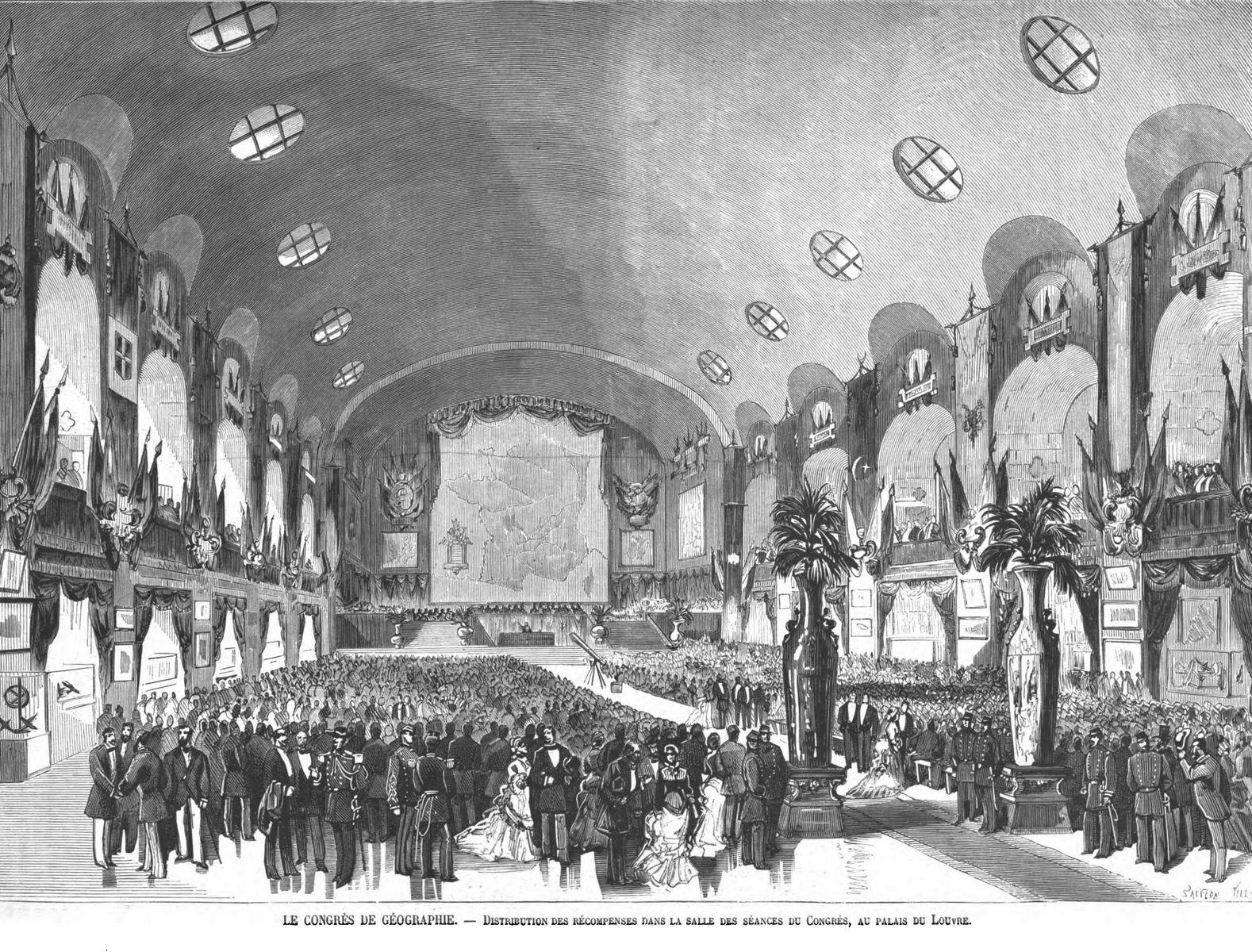 Le Congrès de géographie : salle des séances du Congrès, au palais du Louvre.