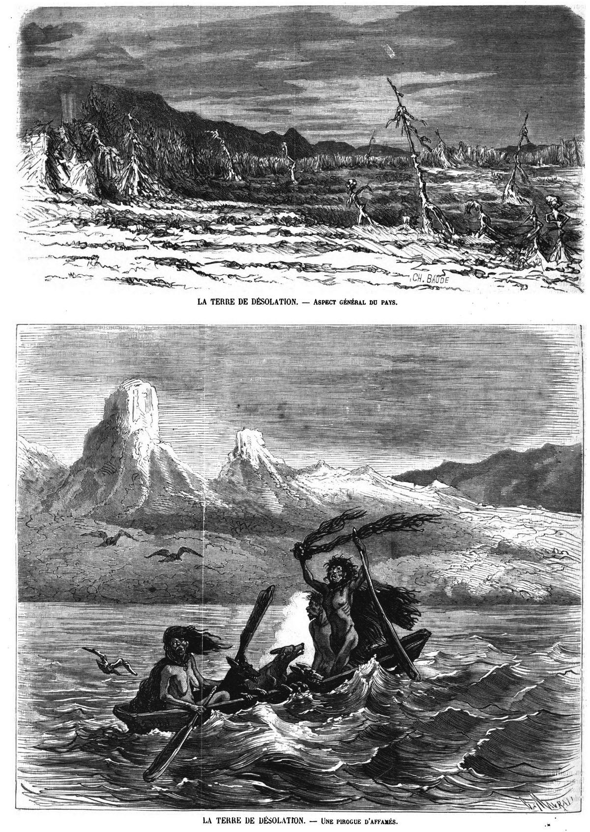 La Terre de désolation (2 gravures).