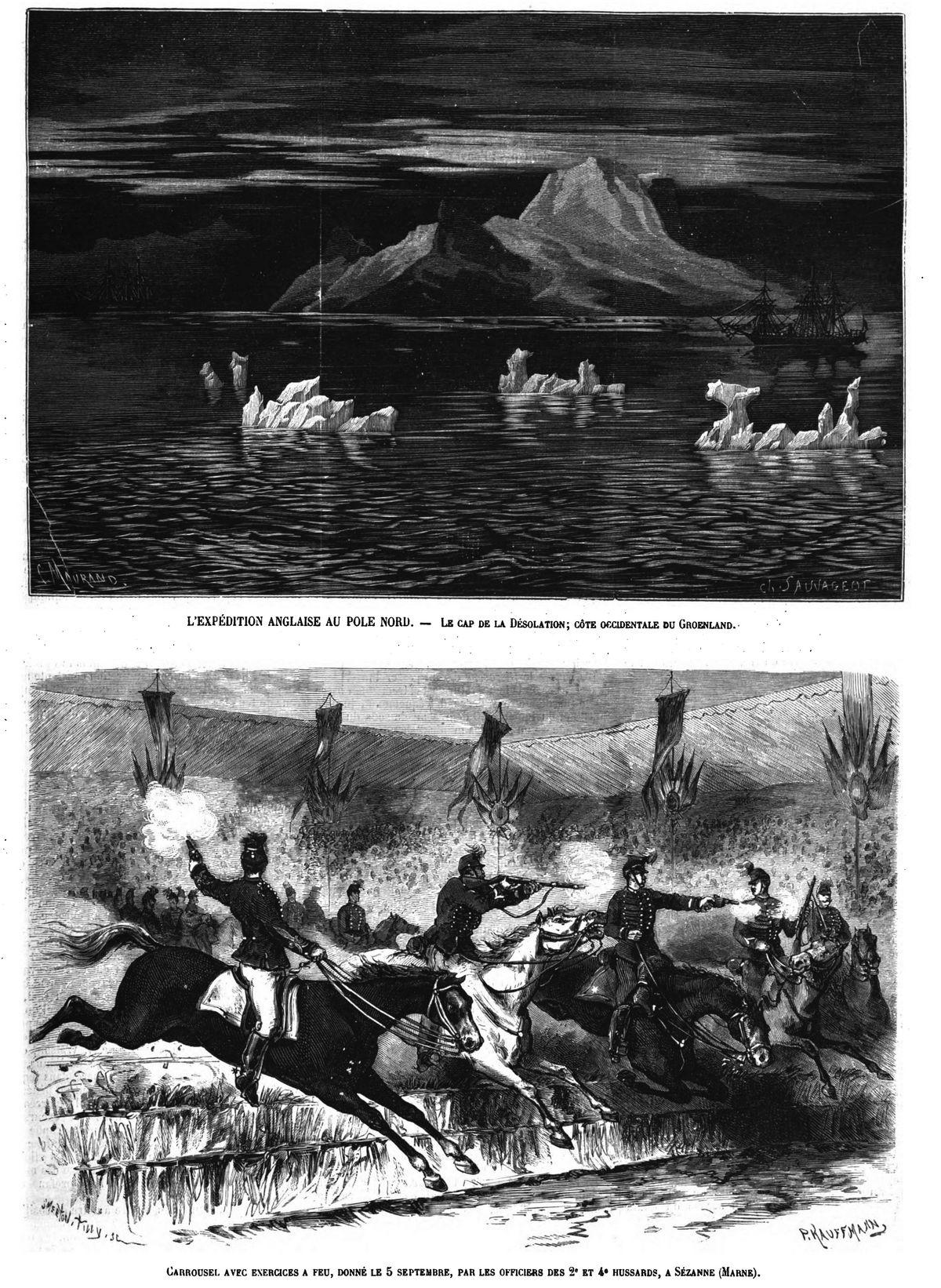 Le cap de la Désolation; côte occidentale du Groenland. 1875 — Carrousel donné à Sézanne 1875