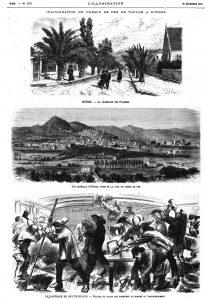 ue générale' d'Hyères, prise de la gare, du chemin de fer. 1875 — Le naufrage du fíeutscliand : pillage du salon des premières au moment du transbordement; 1875