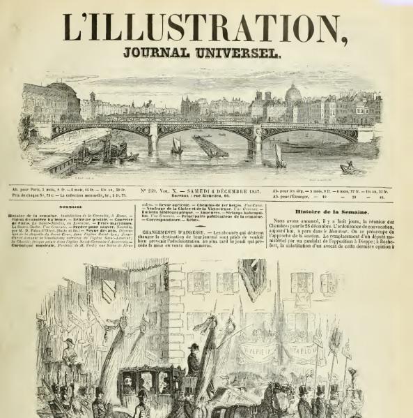 L'ILLUSTRATION 1847 N 249 INSTALLATION DE LA CONSULTA, A ROME.