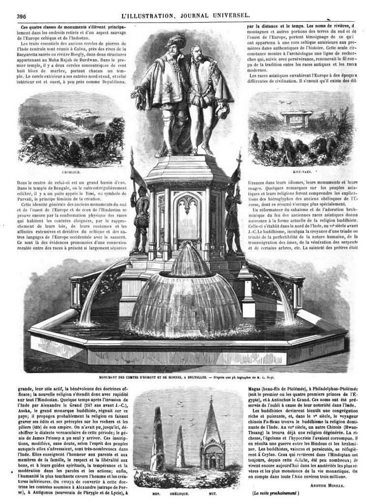 MONUMENT DES COMTES D'EGMONT ET DE HORNES, A BRUXELLES.
